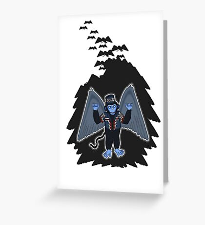 whatever happened to those cute flying monkeys? Greeting Card