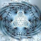 Blue Pinwheel by Greta  McLaughlin