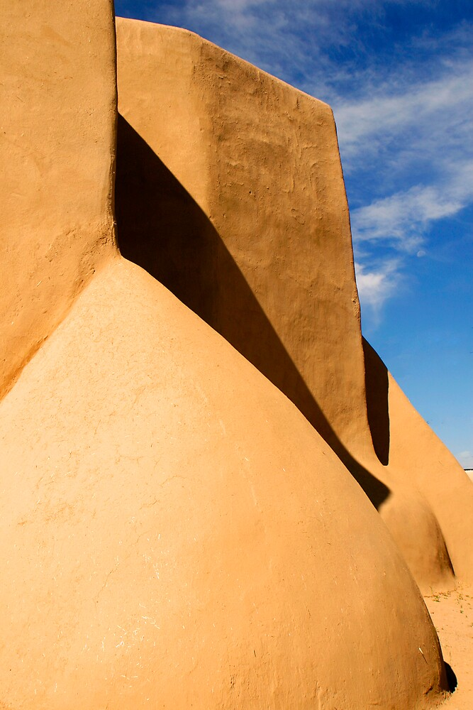 St. Francis Church, Taos, New Mexico by Virginia Maguire