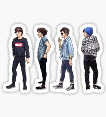 Lou in Blue Sticker