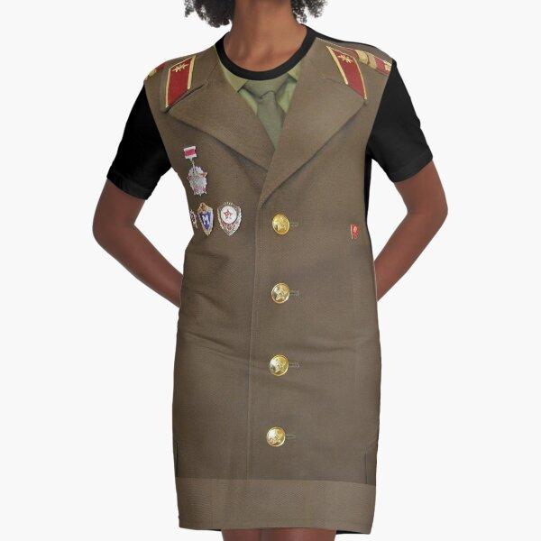 Soviet army Graphic T-Shirt Dress