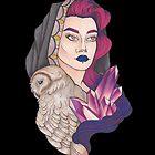 «Chica bruja con lechuza y cristal» de Galbrin