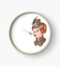 Steampunk girl Clock