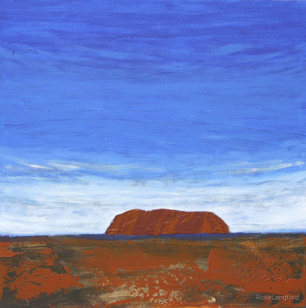 THE DISTANT ROCK (ULURU, CENTRAL AUSTRALIA) by RoseLangford
