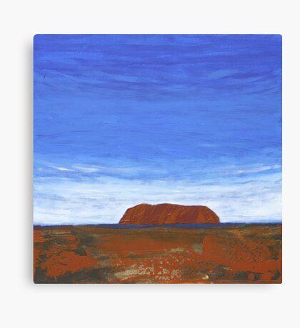 THE DISTANT ROCK (ULURU, CENTRAL AUSTRALIA) Canvas Print
