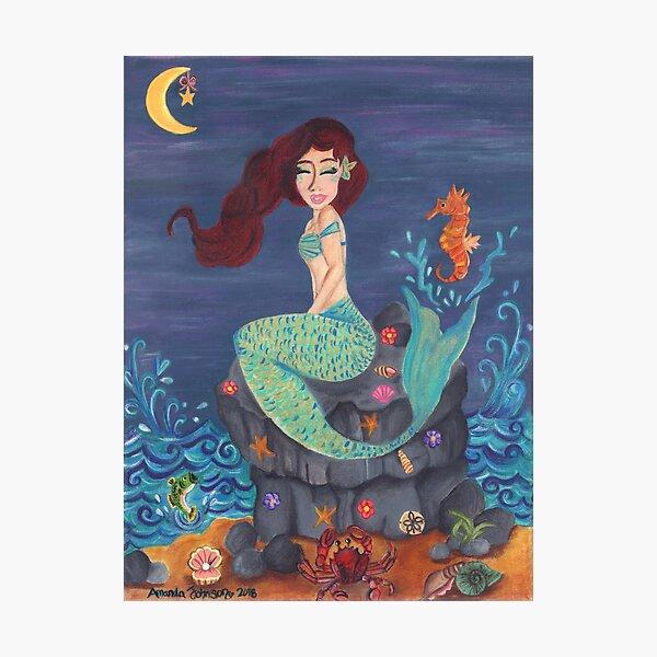 Whimsical Mermaid - Under the Merlight Sea Photographic Print