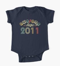 7th Birthday Gift Vintage 2011 Year T-Shirt One Piece - Short Sleeve