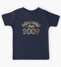 9th Birthday Gift Vintage 2009 Year T-Shirt Kids Tee