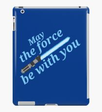 star wars - Blue lightsaber iPad Case/Skin