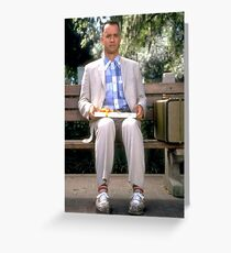 Forrest on Bench Greeting Card