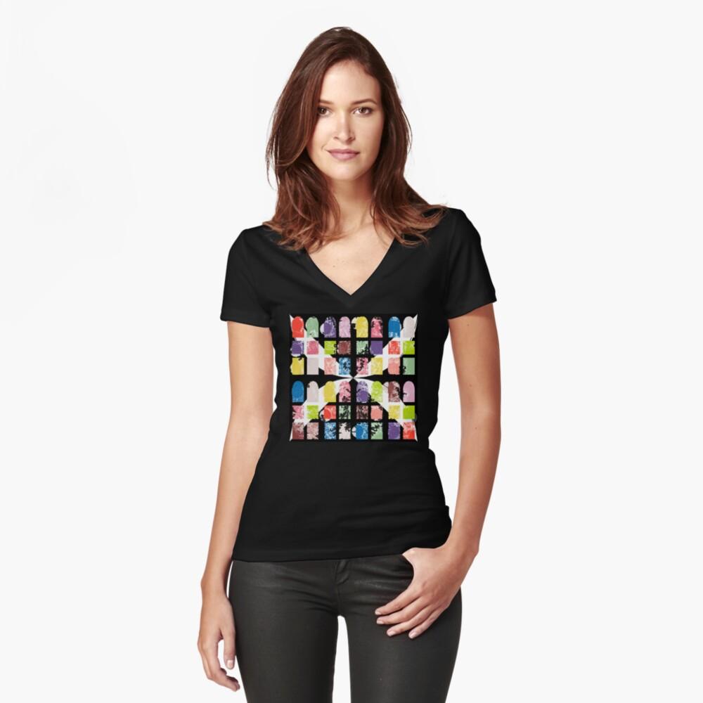 peekaboo Fitted V-Neck T-Shirt