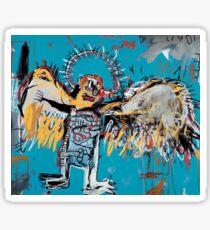 Basquiat, the angel  Sticker