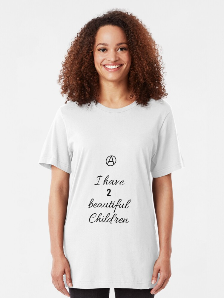 Alternate view of 2 Beautiful Children Slim Fit T-Shirt