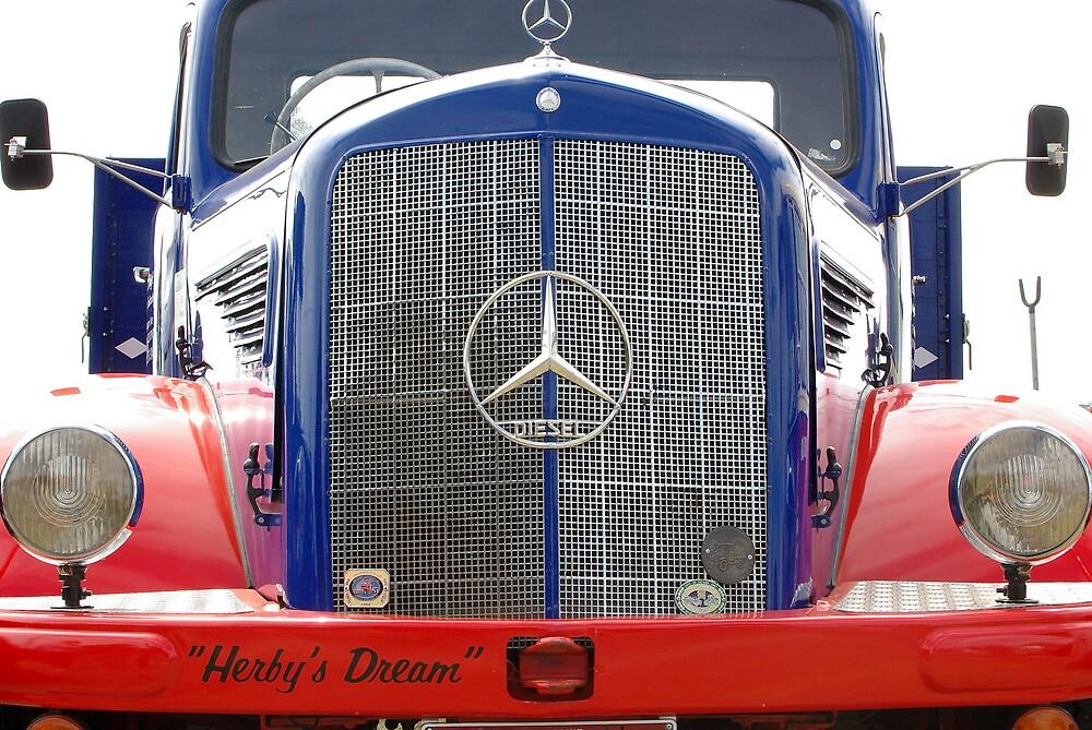 Vintage Mercedes truck. by Dave  Miller
