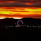 The Elusive Ferris Wheel Sunset by David Rozansky