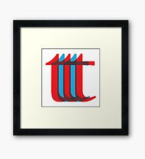 "Repeating ""t"" Pattern Framed Print"