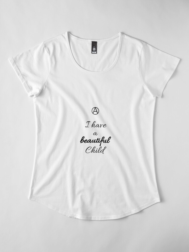 Alternate view of A Beautiful Child  Premium Scoop T-Shirt