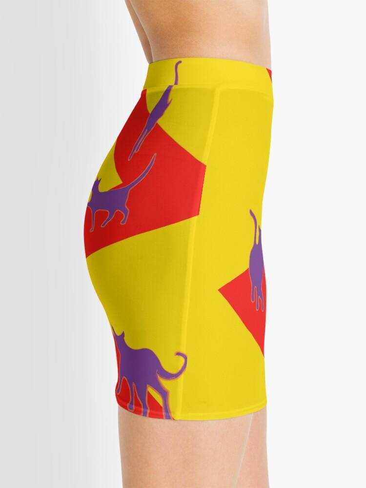 Alternate view of catwalk does pop art Mini Skirt