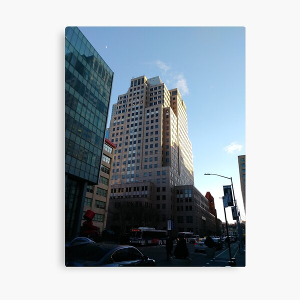 Street, City, Buildings, Photo, Day, Trees Canvas Print