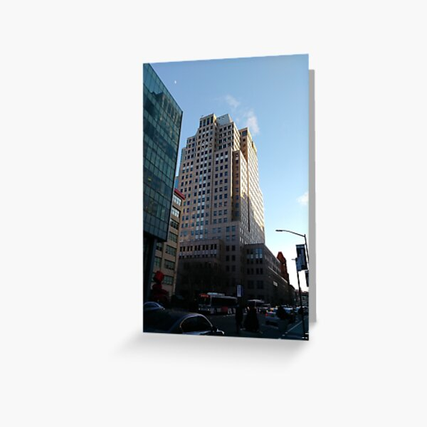 Street, City, Buildings, Photo, Day, Trees Greeting Card