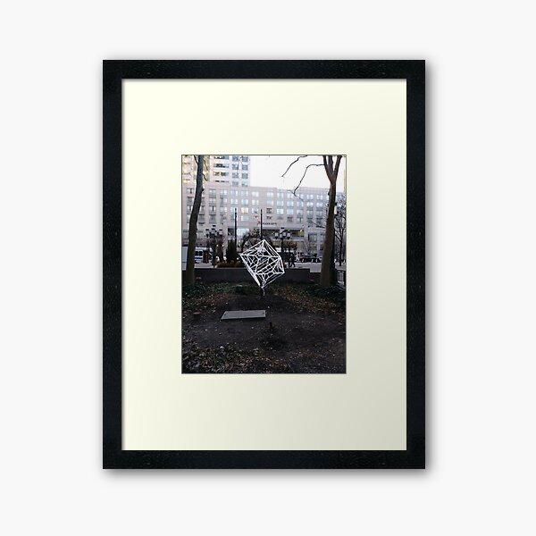 Street, City, Buildings, Photo, Day, Trees Framed Art Print