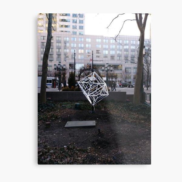 Street, City, Buildings, Photo, Day, Trees Metal Print