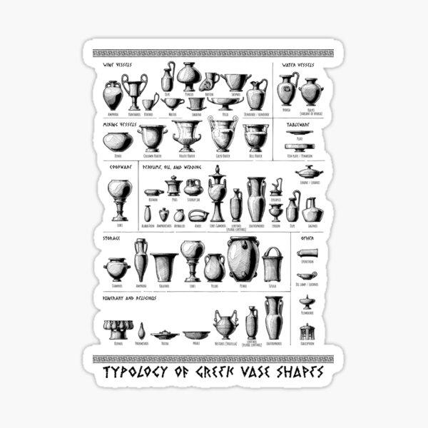 Typology of Greek vase shapes Sticker