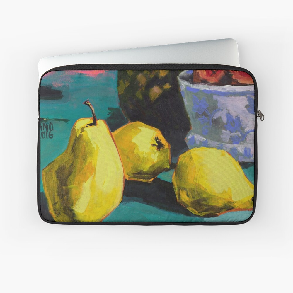 Still life with pears and pineapple Laptop Sleeve