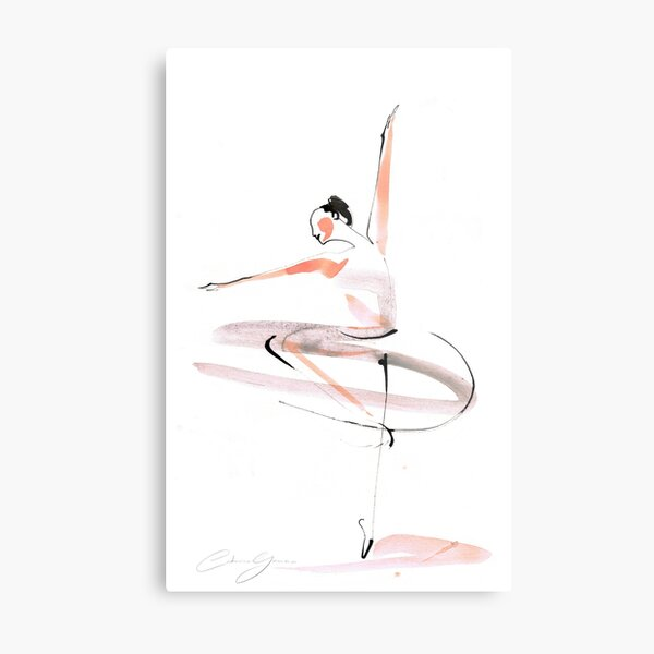 Ballet Dance Drawing Metal Print