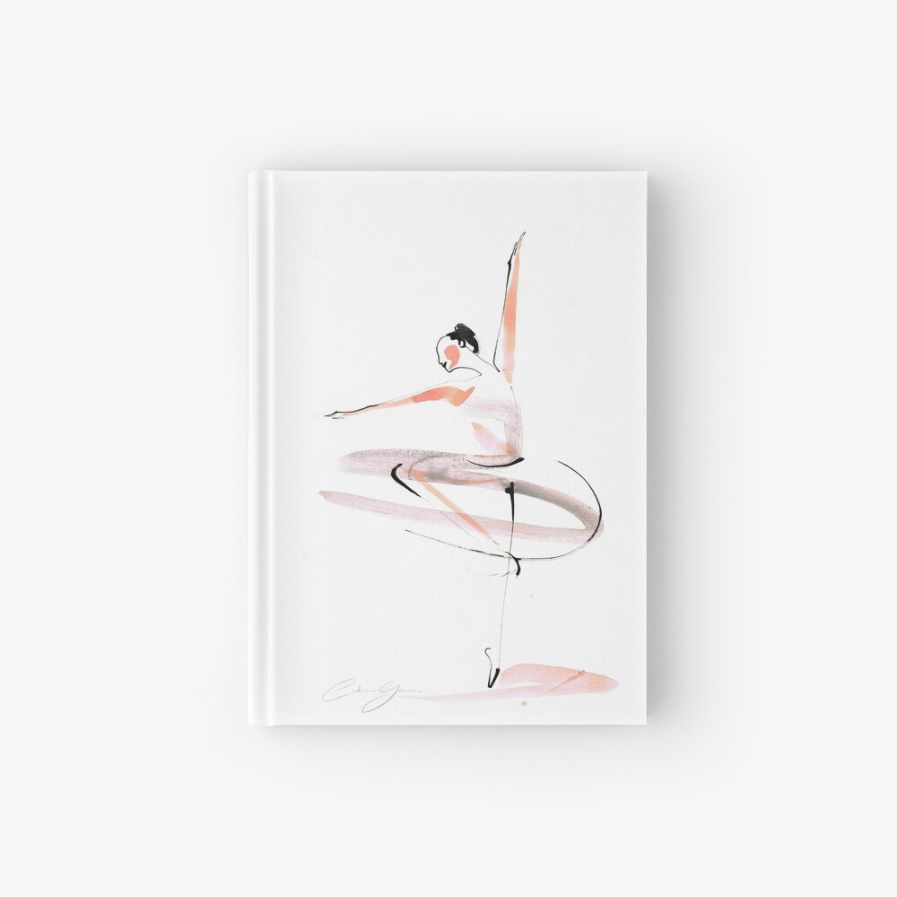 Ballet Dance Drawing Hardcover Journal