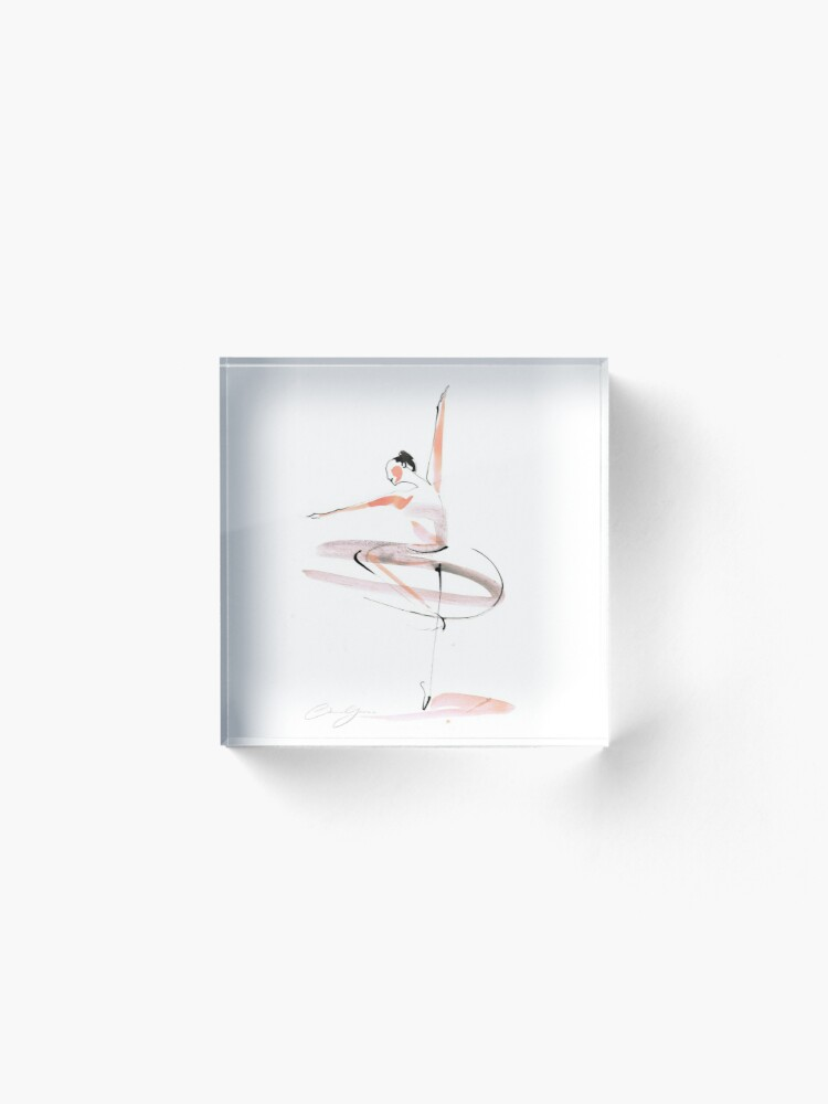 Alternate view of Ballet Dance Drawing Acrylic Block