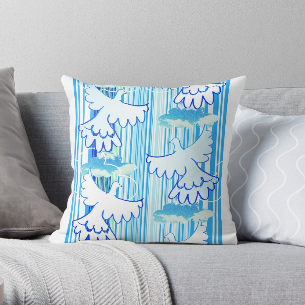 free - celebration of peace pattern Throw Pillow