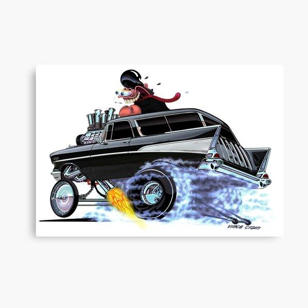 Vince Crain 1957 CHEVY Nomad Gasser Canvas Print