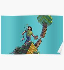 Minecraft Animation Tree Cutter Poster