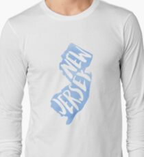 New Jersey Light Blue Watercolor Long Sleeve T-Shirt