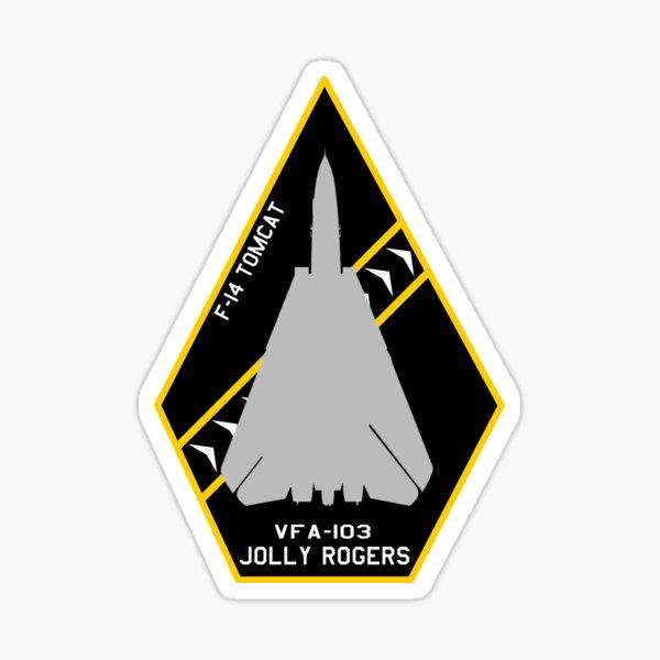 "VFA-103 ""Jolly Rogers"" F-14 Tomcat ""Patch"" Design Sticker"