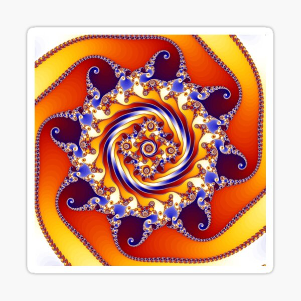 Colourful Mandelbrot Fractal Zoom Glossy Sticker