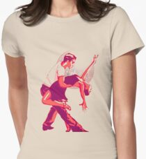Strictly Salsa Couple Dancing With Glitter Ball Womens Fitted T-Shirt