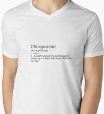 Chiropractor - definition Men's V-Neck T-Shirt