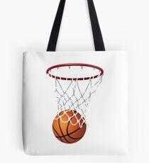 Basketball and Hoop Net Tote Bag
