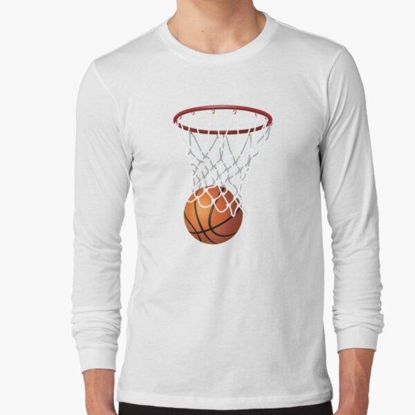 Basketball Slam Dunk Mens PRINTED T-SHIRT Sport Hoop Net Player Shot Ball