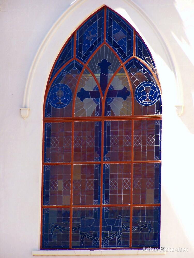 Window of St James Catholic Church, Peak Hill, NSW by Arthur Richardson