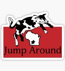 Spotted Cow Jump Around Sticker