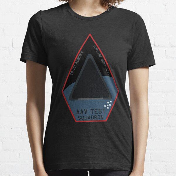 "TR-3B ""Aurora"" Spaceplane Black Triangle Fantasy Patch Essential T-Shirt"