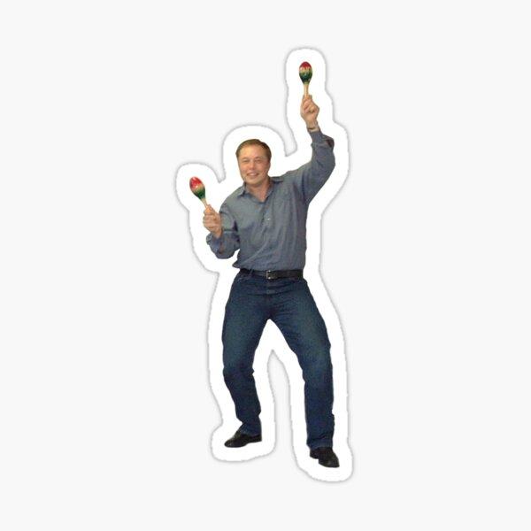 Elon Musk celebrating in 2002 Sticker