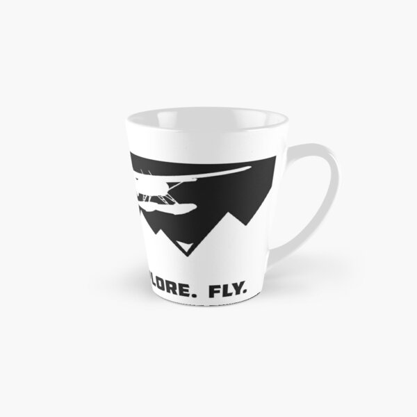 Explore. Fly.  Beaver Floatplane Mountain Exploration Design Tall Mug
