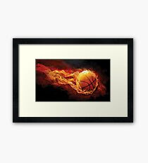 Fiery Basketball Framed Print