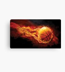 Fiery Basketball Canvas Print