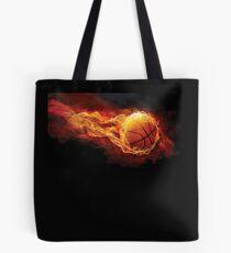 Fiery Basketball Tote Bag