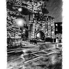 """""""Pottergate Arch, Lincoln UK"""" by ChrisWilsonArt"""